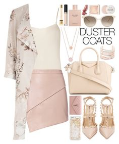 """Duster Coat!"" by nvoyce ❤ liked on Polyvore featuring The Row, Givenchy, Michael Kors, Michelle Mason, River Island, Valentino, Yves Saint Laurent, ban.do, Chopard and Alexis Bittar"