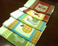 PANOS DE PRATO COM APLICAÇÃO PPA 01-02-03-04 E 05 by Adoro Fazer, via Flickr