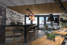 Wood in commercial space 2