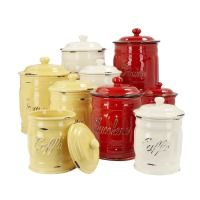 Shop for Italian Ceramic Flour Canisters by Sur La Table at ShopStyle. Kitchen Items, Kitchen Gadgets, New Kitchen, Kitchen Decor, Kitchen Stuff, Kitchen Storage, Funky Kitchen, Kitchen Magic, Kitchen Canisters