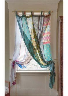 Silk Curtains, Panel Curtains, Hippie Curtains, Patchwork Curtains, Unique Curtains, Eclectic Curtains, Inexpensive Curtains, Scarf Curtains, Purple Curtains