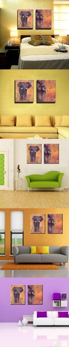 Africa Red Tone Modern Landscape Canvas Prints African Pictures ...