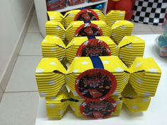 Candy box. Cars birthday party