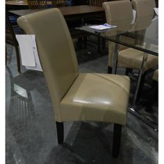 Clearance Bonded Leather Chair - Belfort Furniture - Dining Side Chair Washington DC, Northern Virginia, Maryland and Fairfax VA