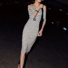 Cold Should Striped Dress $29.99