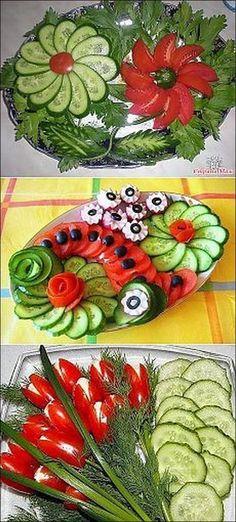 Pasta recetas ensaladas Ideas for 2019 Veggie Platters, Veggie Tray, Food Platters, Vegetable Trays, Veggie Food, Fruit Decorations, Food Decoration, Cute Food, Good Food