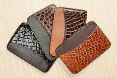 Our New Genuine Alligator with Italian Smooth Leather Cardcase