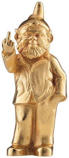 Skulptur ´Sponti-Zwerg´ Gold Christmas, Greek, Statue, Color, Art, Sculptures, Colour, Kunst, Sculpture