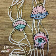 Patches de conchas 🐚🌙 #lojaamei #patch #concha #termocolante #adesivo #mermaid