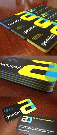 love the colors.   Diseños de tarjetas de presentación 2013