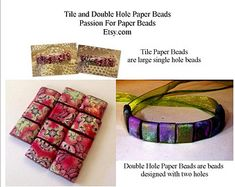 Paper Bead Tutorial How To Make Tile Beads and Double Hole beads