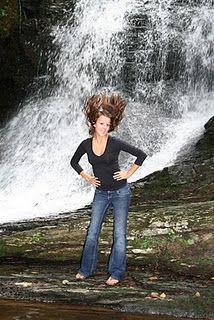 Senior Portraits, crazy hair, waterfall, flip hair