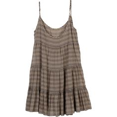 Striped Deo Dress (230 CAD) ❤ liked on Polyvore featuring dresses, tops, vestidos, shirts, women, rebecca minkoff, brown dress, cotton sun dresses, rebecca minkoff dress and sun dresses