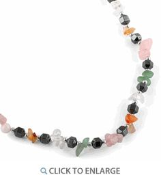 """18"""" Multicolored Chips Stone Hematite #Necklace * $4.45 Hematite Necklace, Beaded Necklace, Beaded Bracelets, Dreamland Jewelry, 18th, Metal, Chips, Stones"""