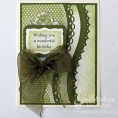 View Idea Gallery Projects | Spellbinders - Curvy Card