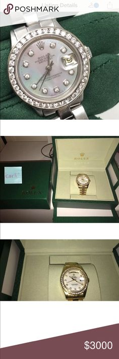 Rolex %100 real FRAUD WATCH OUT Just got scammed by a couple selling this rolex for 3000. They tell you they sent the package and try to get you to gift them the money via 🅿️🅿️ instead of an invoice with a detailed description . They won't go through posh and the young man makes you go through his girlfriend because he claims to be in the hospital all day with his ill mom. If you guys see this it is a SCAM they DO have the watch they just never send it to you . they take your money then…