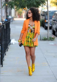 Elle Varner wearing some awesome waxprints