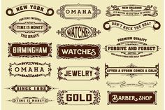 17 Labels and banners. by OneVectorStock on @creativemarket