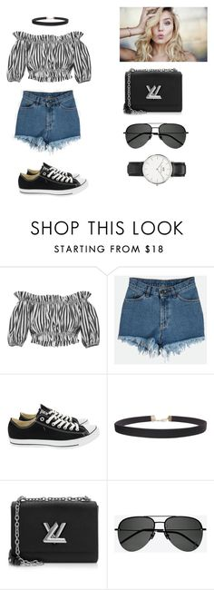 """""""Untitled #163"""" by khanhngan2002 ❤ liked on Polyvore featuring Dolce&Gabbana, Converse, Humble Chic, Louis Vuitton, Yves Saint Laurent and Daniel Wellington"""