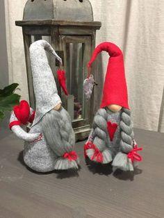 me ~ Handmade Valentine's Day Gnome Set Xmas Elf, Christmas Gnome, Rustic Christmas, Merry Christmas, Scandinavian Gnomes, Scandinavian Christmas, Holiday Crafts, Holiday Decor, Christmas Decorations