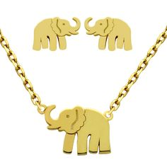 Sterling Elephant Set - Jewelry Buzz Box  - 2