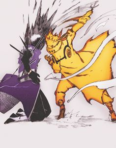 """- Obito...it was you? | - Sensei"" [another meeting of Sensei and student] [Obito & Minato face to face]"
