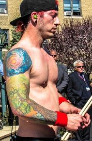 I really like his tattoo. I hope to ask him someday about the story behind it.