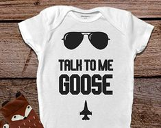 Funny Baby Onesie®, Talk To Me Goose Onesie®, Baby Boy Clothes, Funny Baby Clothes, Trendy Baby Clothes, Hipster Baby Clothes Unique Gift
