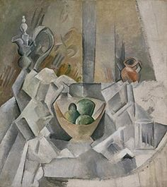 Carafe, Jug and Fruit Bowl by Pablo Picasso, Guggenheim Museum Solomon R. Guggenheim Museum, New York Solomon R. Guggenheim Founding Collection, By gift © 2016 Estate of Pablo Picasso/Artists. Kunst Picasso, Art Picasso, Picasso Paintings, Georges Braque, Picasso Still Life, Cubist Movement, Henri Fantin Latour, Carafe, Canvas Art Prints