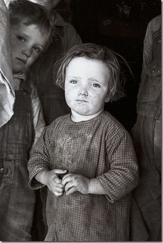 Baby girl of family living on Natchez Trace Project, near Lexington, Tennessee; 1936 June; Carl Mydans, photographer.(pinned by haw-creek.com) Eyes of the Great Depression 043