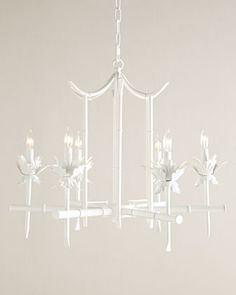 "Bamboo-Motif Chandelier by NM EXCLUSIVE | Neiman Marcus 27""W x 24""D x 27""T with 72""L chain"
