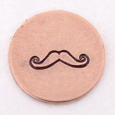 Mustache Metal Design Stamp 6mm  Handstamping by theurbanbeader, $9.75