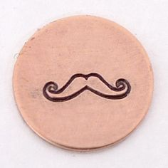 Mustache Metal Design Stamp 6mm  Handstamping by theurbanbeader, $9.75