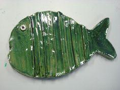 dessous de plat poisson - poterie apf