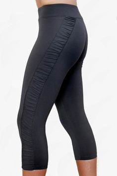 These yoga pants are flattering on anyone, any size. Thick and high waist band so they don't slide down your bum like so many yoga pants do.