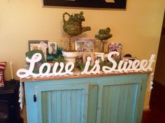 Wedding decoration DESSERT wooden letters by WineAccentsbyLinda | weddings  | Pinterest | Dessert table, Table wedding and Weddings