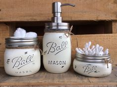Rustic 5 Piece Mason Jar Bathroom Set.BLUE.Rustic by Kksmercantile on mason jar gifts for women, mason jar living room, mason jar rugs, mason jar window treatments, mason jar shabby chic, mason jar soap dispenser, mason jar clothing, mason jar dolls, canning jar bathroom decor, mason jar kitchen items, mason jar home, mason jar paint ideas, mason jar tables, mason jar country decorating, mason jar shower curtain, mason jar pillows, mason jar pottery, mason jar line art, mason jar decorate, mason jar kitchen decorations,