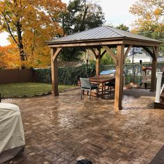 Some of the pretty things we do ❤️❤️❤️Cambridge pavingstones patio with a chestnut border. Finished off with this gorgeous pergola we installed yesterday. Love how this design came together. Simple yet elegant outdoor living room Gazebo, Pergola, Stone Driveway, Lawn Maintenance, Removal Services, Cambridge, Outdoor Living, Garden Design, Management