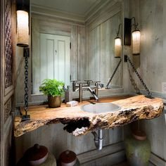Muskoka Cottage - beach style - bathroom - other metro - Lisa Stevens & Company, Inc.