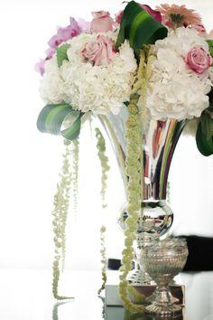 Fresh flowers on a wedding day.