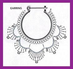 alice brans posted Crochet diagram to make earrings, Spanish site to their -crochet ideas and tips- postboard via the Juxtapost bookmarklet. diagram for crochet earings! more diagrams on site :) … Divinos aros tejidos al crochet. Risultati immagini per Crochet Jewelry Patterns, Crochet Earrings Pattern, Crochet Accessories, Diy Crochet Jewelry, Crochet Necklace, Crochet Diagram, Crochet Chart, Crochet Motif, Crochet Instructions