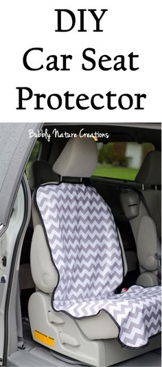 A car seat protector will save time and money. Car seats can leave nasty marks in your nice seats not to mention all of the spills and messes that happen in baby's car seat. This one is a do it yourself version which could also save money.