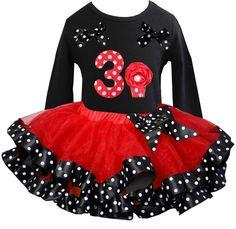 Verjaardag jurk minnie mouse longsleeve