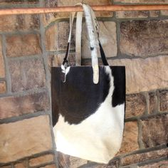 Cowhide Bag in Black and White