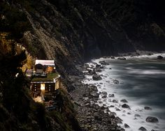bathe in the midst of the night where the santa lucia mountains break off into the pacific ocean at the magical hot springs of esalen. an experience like no other--warm water for the body, crashing waves for the ears, and a sky full of stars for the eyes.