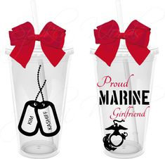 Proud Marine Girlfriend with Marine Logo with Heart by SpknWords, $12.00