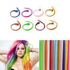 neuf 1 clip perruque longue accessoires extensions de cheveux color 14 couleurs - Perruque Colore