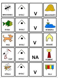 Pro Šíšu: Skladame jednoduche vety Book Activities, Preschool Activities, Matching Games, Pictogram, Baby Time, Speech Therapy, Montessori, Diy For Kids, Homeschool