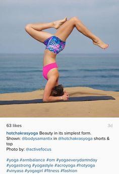 Beauty in its simplest form. Shown: @bodysamantix in @hotchakrasyoga shorts & top Photo by: @activefocus #yoga #armbalance #om #yogaeverydamnday #yogastrong #yogastyle #acroyoga #hotyoga #vinyasa #yogagirl #fitness #fashion