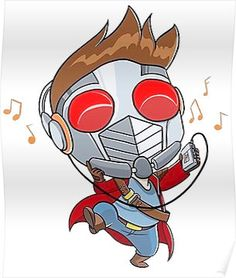 Star lord has great taste in music Chibi Marvel, Marvel Art, Marvel Dc Comics, Marvel Heroes, Marvel Movies, Star Lord, Comic Character, Character Design, Gardians Of The Galaxy